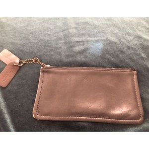 Small leather coach wallet